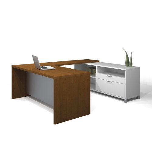 Bestar Pro-Linea U-Shape Desk Office Suite