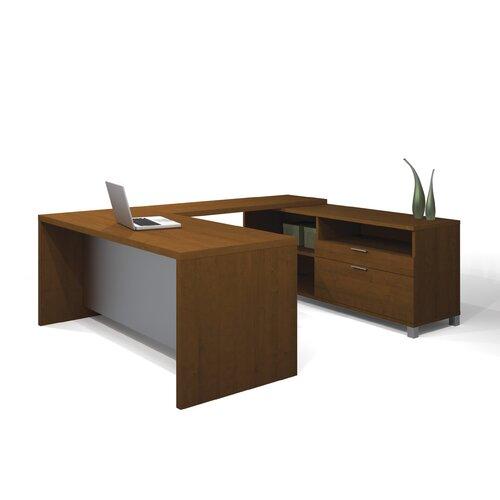 Bestar Pro-Linea U-Shape Exec/Comp Desk