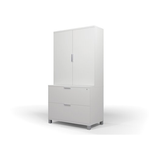 "Bestar Pro-Linea 35.6"" Lateral File And Cabinet Kit"