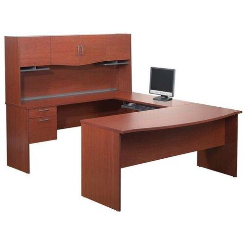 Bestar ndra,Harmony U-Shape Executive Workstation with Storage Drawers