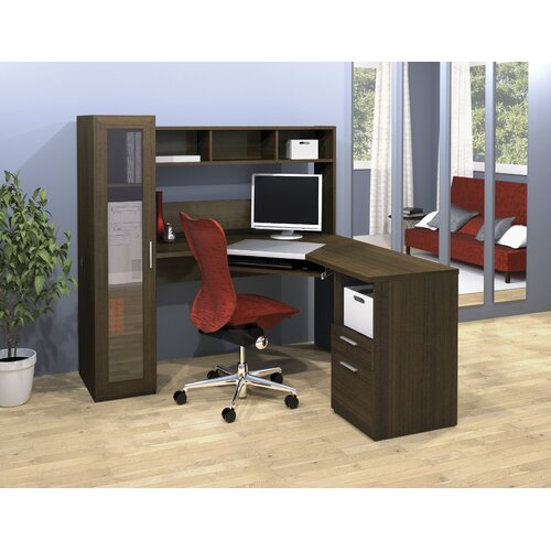 Bestar Jazz L-Shape Executive Desk Office Suite