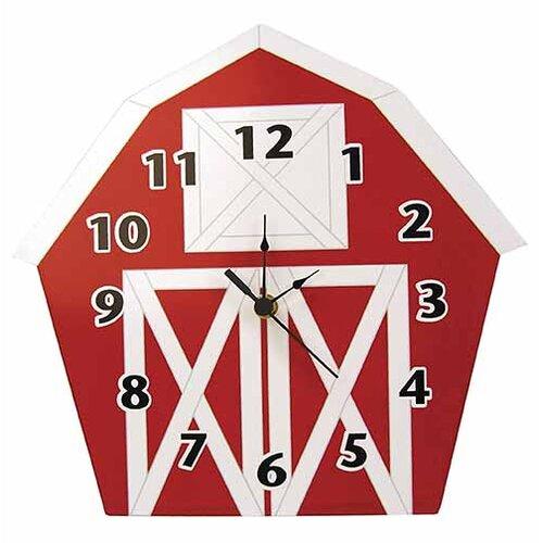Baby Barnyard Barn Wall Clock