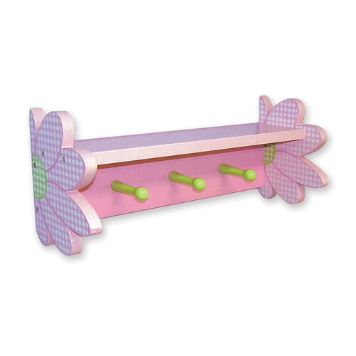 Trend Lab Darling Daisy Shelf with 3 Peg Hooks