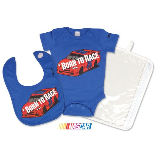 Trend Lab Nascar 2 Piece Gift Set Born To Race (0-3 Months)