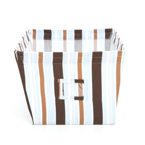 Trend Lab Max Large Fabric Storage Bin in Stripes