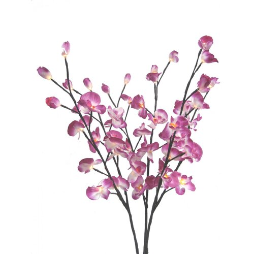 "Creative Motion Orchid Flower Light 39"" H Table Lamp"