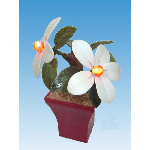 Creative Motion Real Stone Decorative Flower Plants with Light