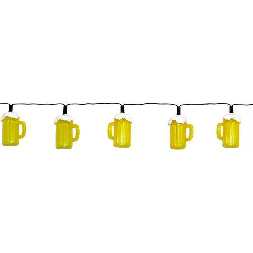 Creative Motion 10 Light Beer Mug String Light