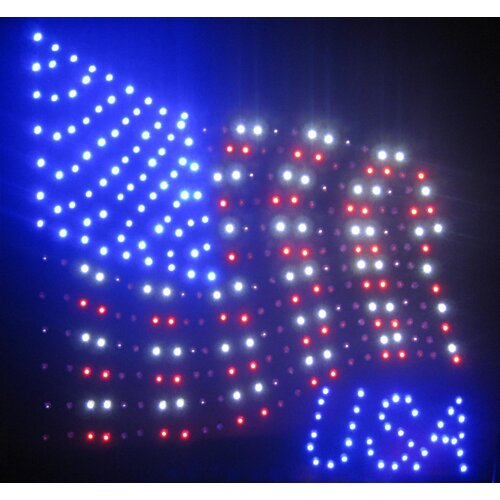 Creative Motion USA Flag LED Sign