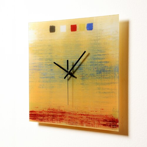 "HangTime Designs 15"" Textile Wall Clock"