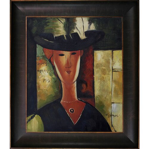 Tori Home Portrait of Madam Pompadour by Amedeo Modigliani Framed Original Painting