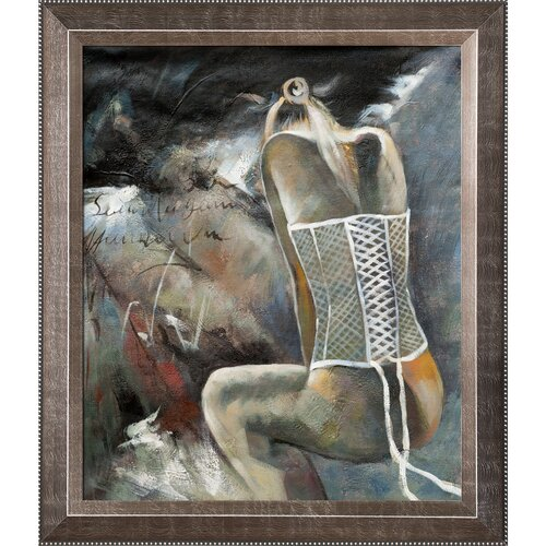 Tori Home Young Girl by Pol Ledent Framed Hand Painted Oil on Canvas