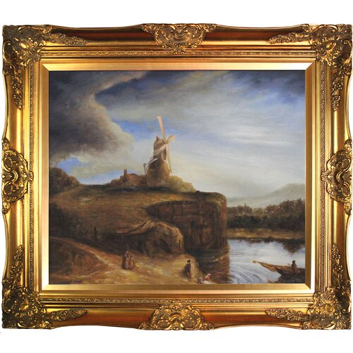 Tori Home The Mill by Rembrandt Framed Original Painting