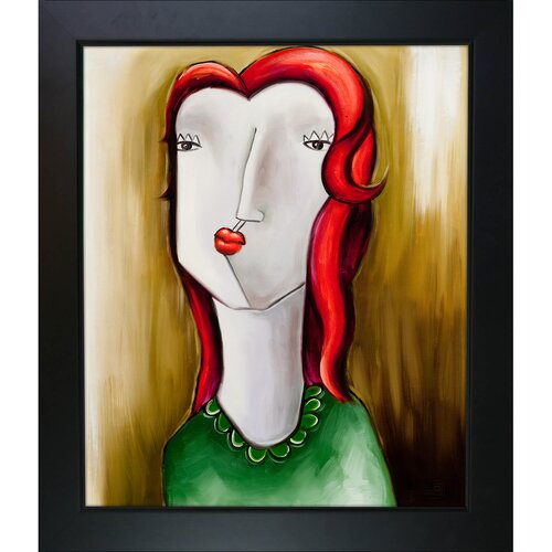 Girl with Red Hair by Vantuan Nguyen Framed Original Painting