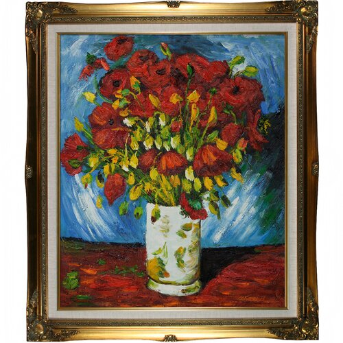 Tori Home Poppies by Van Gogh Framed Original Painting