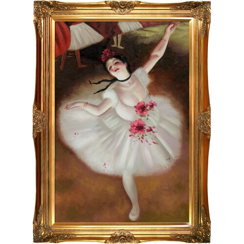 Tori Home Star Dancer (On Stage) Degas Framed Original Painting