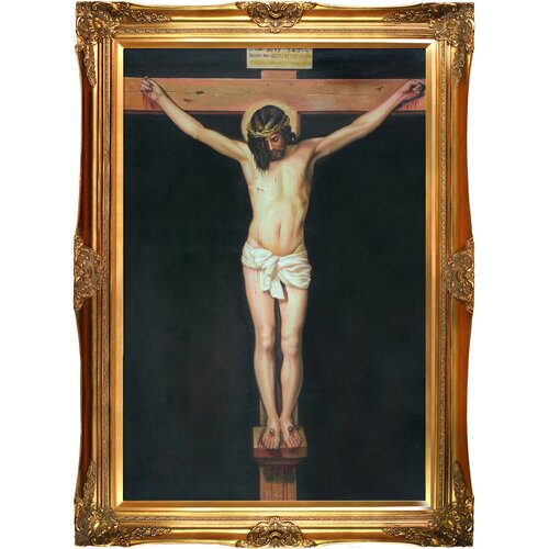 Tori Home Christ on the Cross Velazquez Framed Original Painting