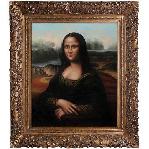 Tori Home Mona Lisa Da Vinci Framed Original Painting