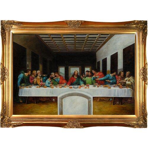 The Last Supper Da Vinci Framed Original Painting