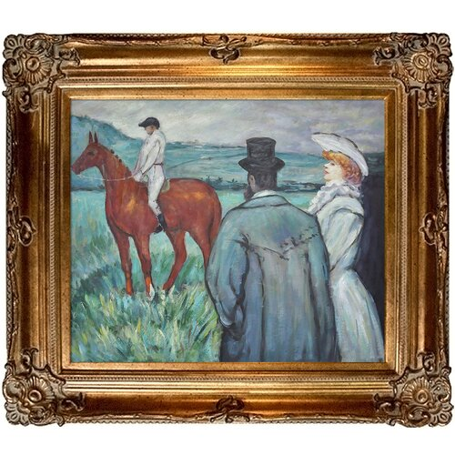Tori Home At the Races Toulouse-Lautrec Framed Original Painting