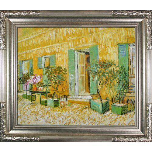 Tori Home Exterior of a Restaurant at Asnieres Van Gogh Framed Original Painting