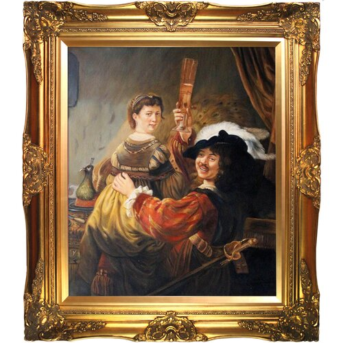 Tori Home Rembrandt and Saskia in the Parable of the Prodigal Son Rembrandt Framed Original ...