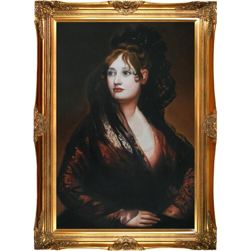 Portrait of Dona Isabel de Porcel Goya Framed Original Painting