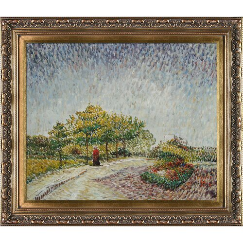Tori Home Lane in the Argenson Park at Asnieres Spring Van Gogh Framed Original Painting ...