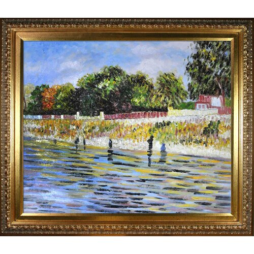 Tori Home The Banks of the Seine May-June Van Gogh Framed Original Painting