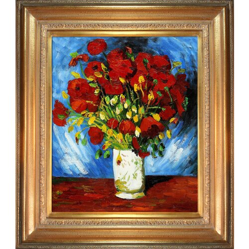 Poppies by Van Gogh Framed Hand Painted Oil on Canvas