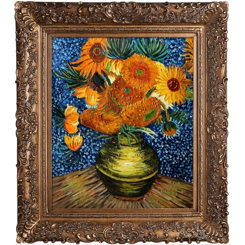 Tori Home Flower Collage (Artist Interpretation) by Van Gogh Framed Hand Painted Oil on Canvas ...