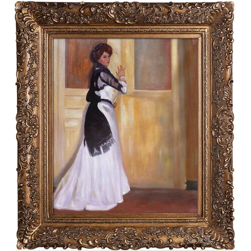 Girl in White by Alfred Henry Maurer Framed Hand Painted Oil on Canvas