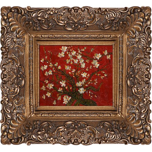 Tori Home Branches of an Almond Tree in Blossom (Red) by Van Gogh Framed Hand ...