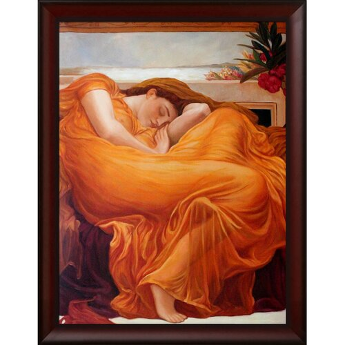 Tori Home Flaming June by Leighton Framed Hand Painted Oil on Canvas