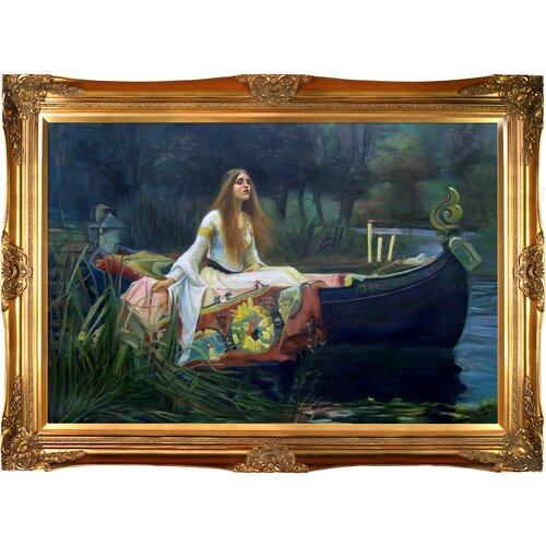 Tori Home The Lady of Shalott by John William Waterhouse Framed Hand Painted Oil on ...