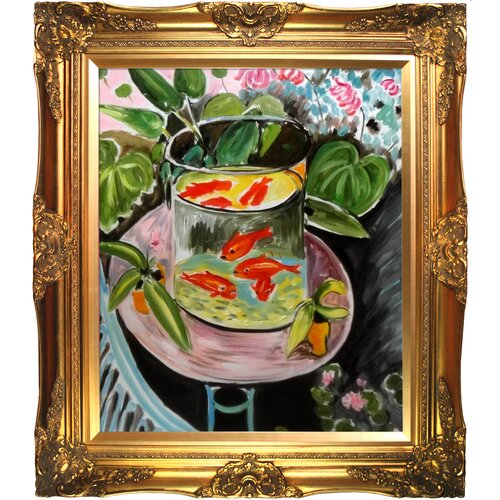 The Gold Fish by Matisse Framed Hand Painted Oil on Canvas