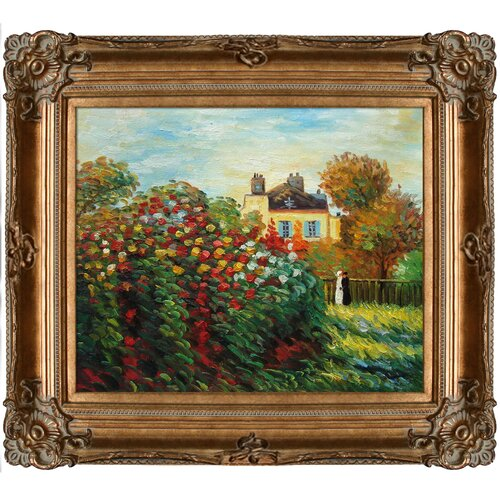 Tori Home The Artist's Garden by Monet Framed Hand Painted Oil on Canvas