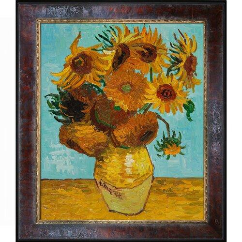 Sunflowers by Van Gogh Framed Original Painting