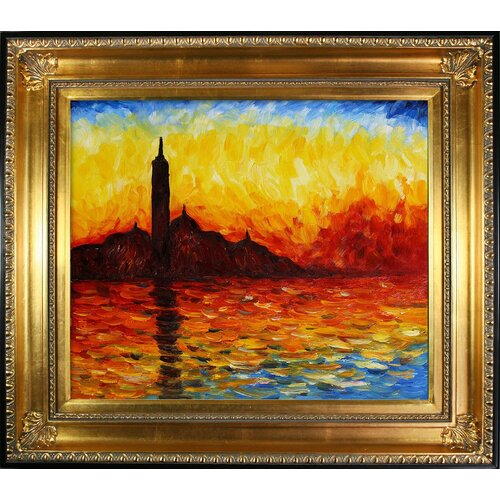 San Giorgio Maggiore by Twilight by Monet Framed Hand Painted Oil on Canvas