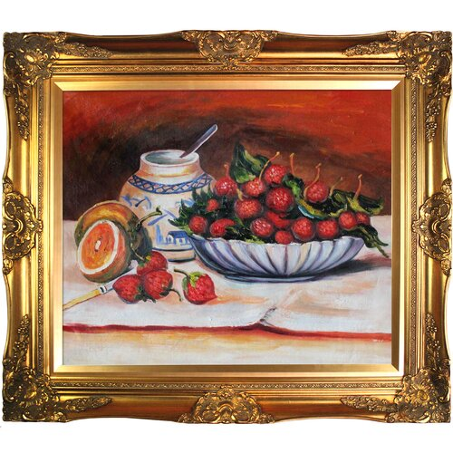 Tori Home Strawberries by Renoir Framed Hand Painted Oil on Canvas