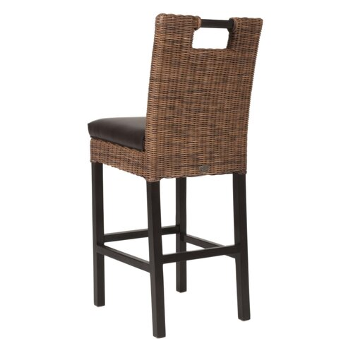 Wicker 30 Quot Bar Stool With Cushion Wayfair
