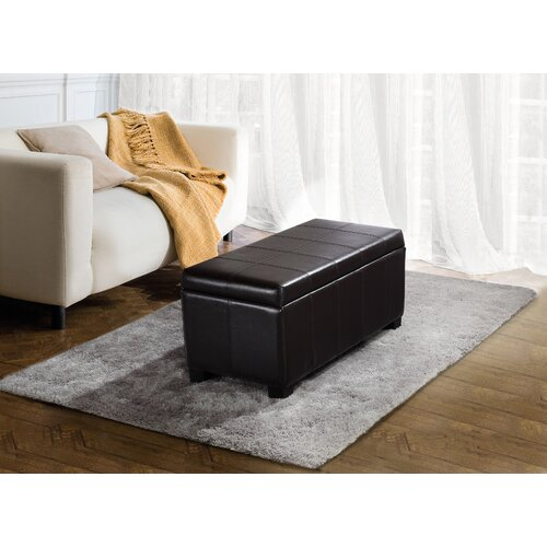 Simpli Home Dover Leather Storage Ottoman