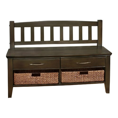 Foyer Bench With Drawers : Simpli home williamsburg wood storage entryway bench with
