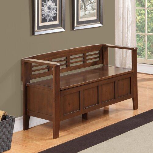 simpli home adams entryway storage bench reviews wayfair
