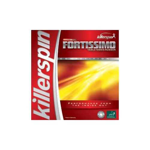 "Killerspin Fortissimo High Tension 0.08"" Table Tennis Rubber in Red"