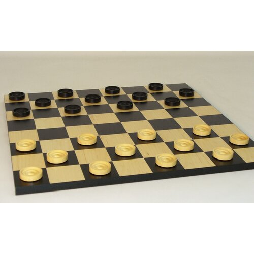 "Checkmate 15"" Checker Set in Black / White"