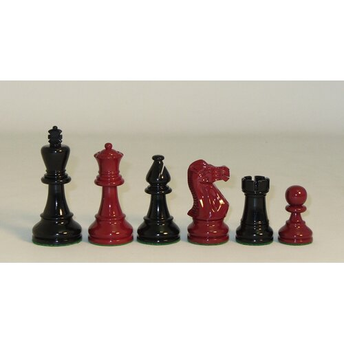 Checkmate Classic Chessmen in Black / Red