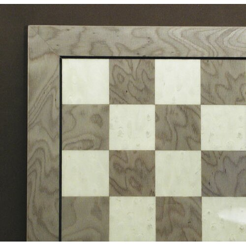 "Ferrer 13"" Briar Chess Board in Grey / Ivory"