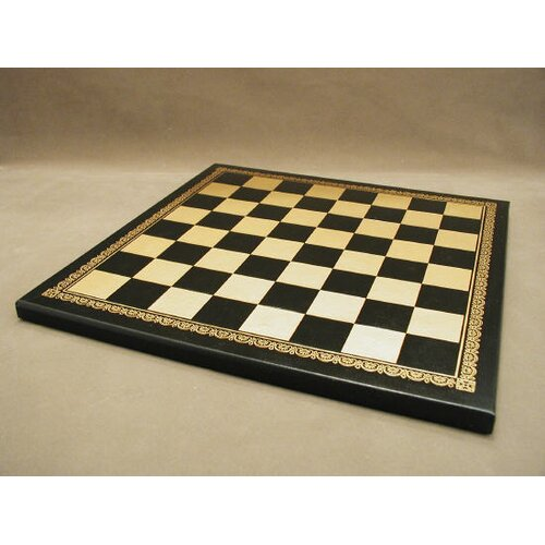 "Ital Fama 13"" Pressed Leather Chess Board"