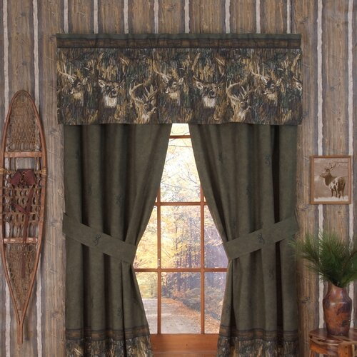 Browning Whitetails Lined Drape Panel